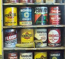 Vintage Motor Oil Can Collection by Diane Trummer Sullivan