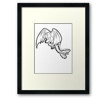 Toothless - Night Fury BLACK Framed Print
