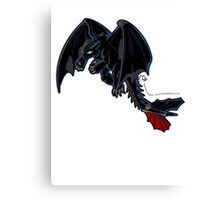 Toothless - Night Fury COLOUR Canvas Print