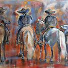 Charros Waiting On The Parade   by Reynaldo