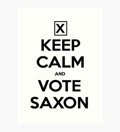 Vote Saxon - White Art Print