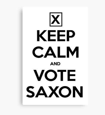 Vote Saxon - White Canvas Print