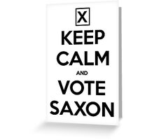 Vote Saxon - White Greeting Card