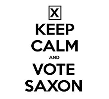 Vote Saxon - White Photographic Print