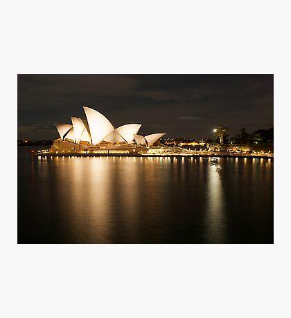 """ Golden Lady .. Sydney Opera House "" Photographic Print"