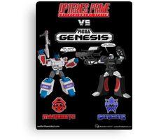Transformers: Console Wars - OptiSNES vs. MegaGen! TEXT Canvas Print