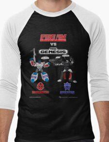 Transformers: Console Wars - OptiSNES vs. MegaGen! TEXT Men's Baseball ¾ T-Shirt