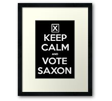 Vote Saxon  Framed Print