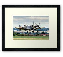 Two Spitfires taking off at Duxford Framed Print