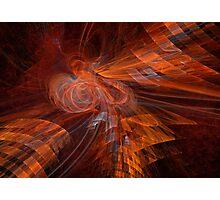 Burning Phoenix Photographic Print