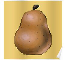 Pixel Pear (Yellow) Poster