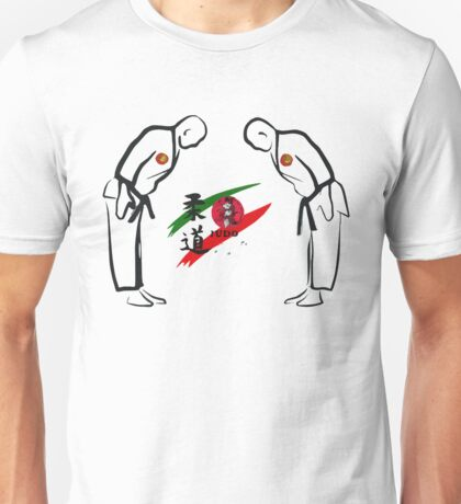 Judo Bowing Illustration Unisex T-Shirt