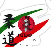 Judo Bowing Illustration Sticker
