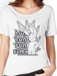 Bun Bun Fun Time! Monochrome Women's Relaxed Fit T-Shirt