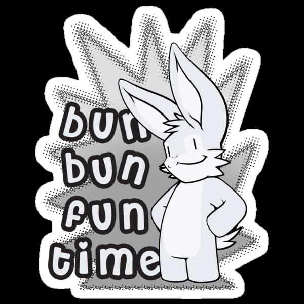 Bun Bun Fun Time! Monochrome by Shiuk