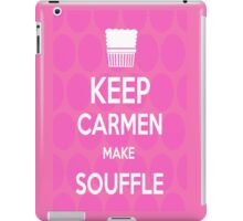 Keep Carmen make Souffle iPad Case/Skin
