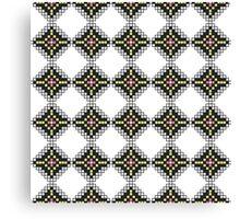 Native American Geometric Block Pattern Canvas Print