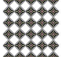 Native American Geometric Block Pattern Photographic Print