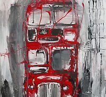 London Bus by Artbyirina