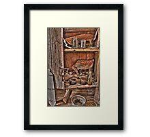 indian mans cabinet Framed Print