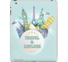 Travel & Explore iPad Case/Skin