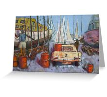 Flying Squadron Yacht Club Greeting Card
