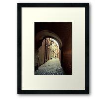 Alleyway in Brussels, Belgium Framed Print
