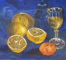 Lemons and Wine by David Hinchliffe