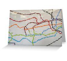 london lego underground map Greeting Card