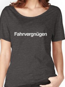 Fahrvergnügen - White Ink Women's Relaxed Fit T-Shirt