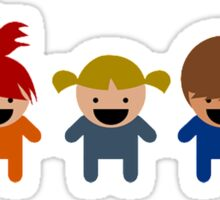Cartoon Kid Characters Sticker