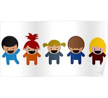 Cartoon Kid Characters Poster