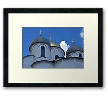 gold crosses on domes Framed Print