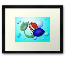 Twisted - The Little Mermaid Framed Print