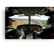 Cockpit wide angle Canvas Print