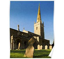 Lincolnshire Village Church Poster