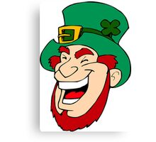 Leprechaun Laughing Canvas Print