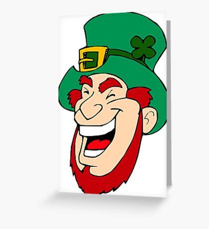 Leprechaun Laughing Greeting Card