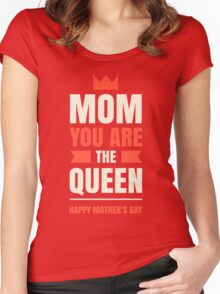 Mother's Day Queen Women's Fitted Scoop T-Shirt