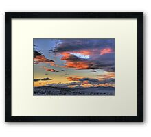 Winter in Athens Framed Print
