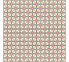 Coral Peach, Black, and White Elegant Geometric Photographic Print