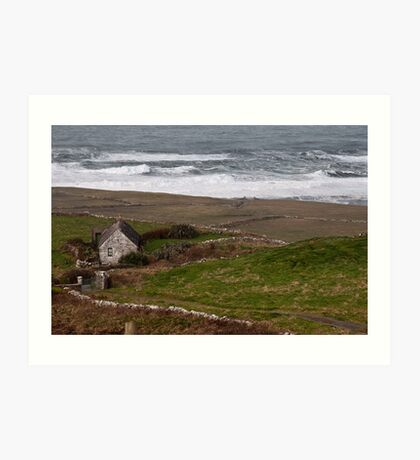 Cruel ocean sea in west of ireland. Doolin, County Clare. Art Print