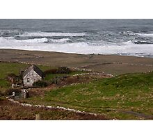 Cruel ocean sea in west of ireland. Doolin, County Clare. Photographic Print