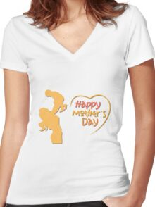 Happy Mother's Day Women's Fitted V-Neck T-Shirt