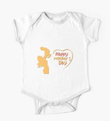 Happy Mother's Day One Piece - Short Sleeve
