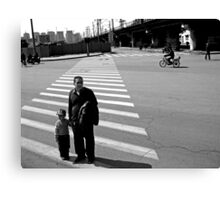 Crossing the Road Canvas Print
