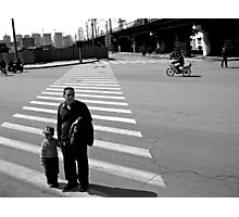 Crossing the Road Photographic Print