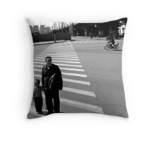 Crossing the Road Throw Pillow