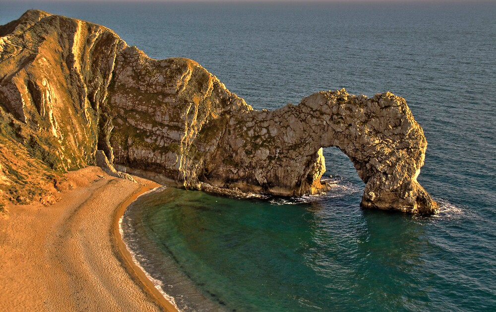 Durdle Dor - HDR - The Jurassic Coast World Heritage Site Series by LeeMartinImages