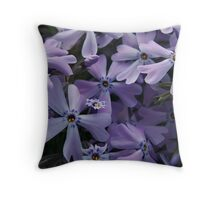 Crowded purple stars Throw Pillow